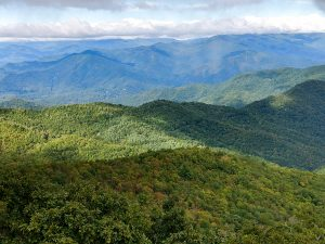 View Northeast from Cowee Bald Fire Tower