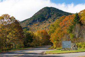 Mount Mitchell State Park Sign and Potato Knob