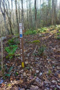Sign at the Start of Bluff Mountain Loop Trail