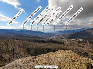 Peaks Visible East from Kitsuma Peak