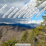 Peaks Visible North from Kitsuma Peak