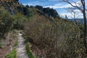 Mountains to Sea Trail in the Chimneys Area