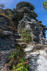 Mountains to Sea Trail Rock Climb