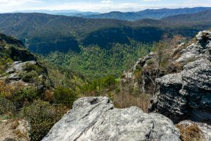 View Into Linville Gorge From the Chimneys