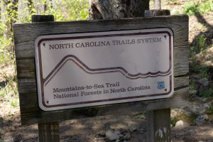 Mountains to Sea Trail Sign at Table Rock