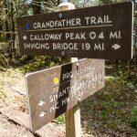 Directional Signs at Profile and Grandfather Trails