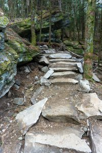 New Stone Steps on the Profile Trail