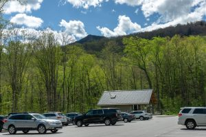 View of Grandfather Mountain from the Profile Trail Parking Area
