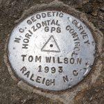 NC Geodetic Survey Marker on Big Tom